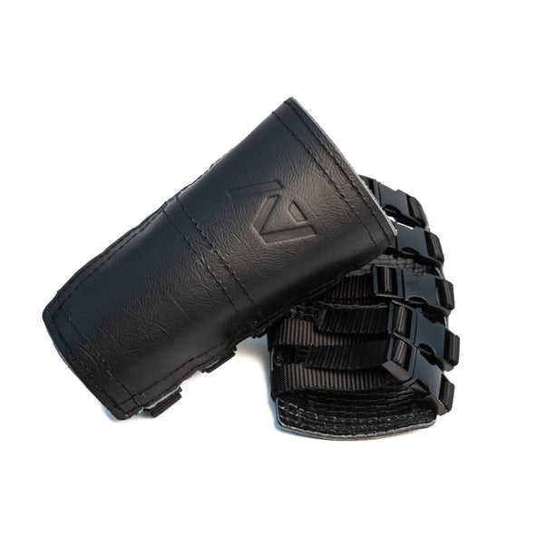 We designed the A7 Stone Sleeves from the ground up for Strongmen and StrongWomen to protect the forearms during atlas stones lifts. We added five 50 kg quick release clips on the straps. Once you have the sleeves set for your forearms you can simply snap the straps and have these always be the right fit. The sleeves are made from 100% leather and have a unique pattern inside that helps grip your forearm as you lift.