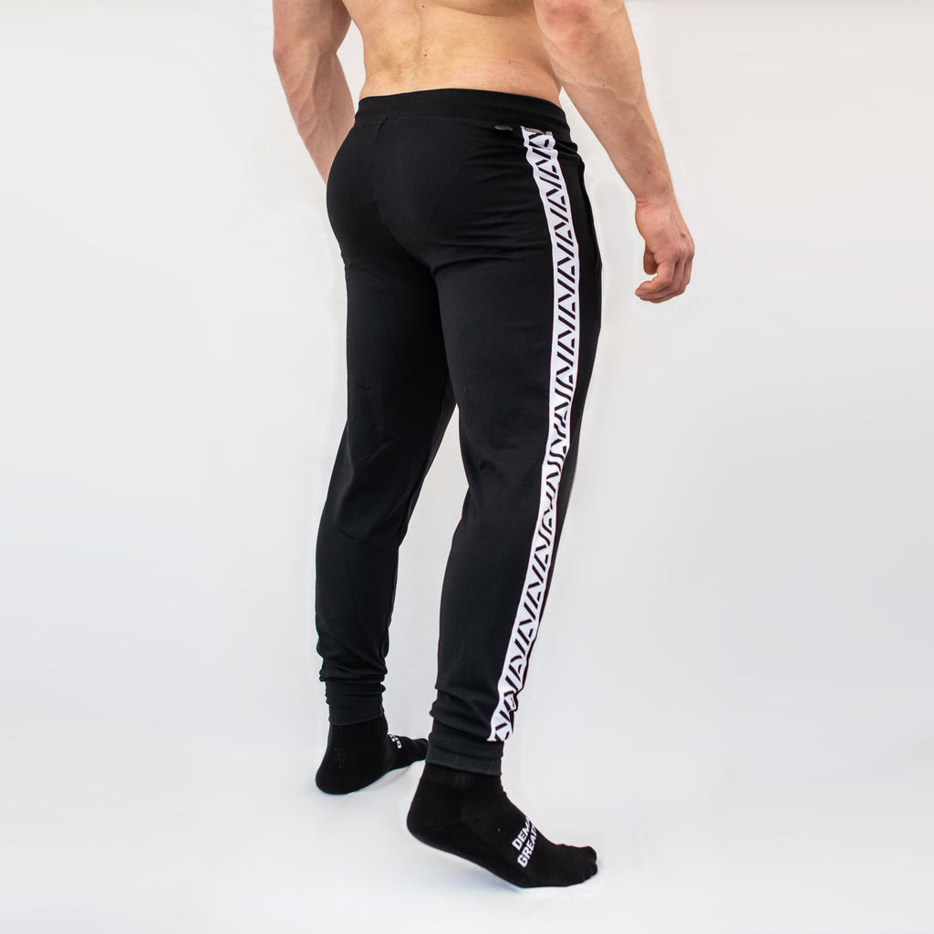 Defy joggers are just as comfortable in the gym as they are going out. These are made with premium moisture-wicking 4-way-stretch material for greater range of motion.  These are a great fit for both men and women.