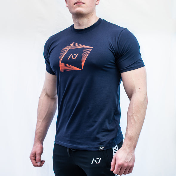 A7 Twist Bar Grip T-shirt, great as a squat shirt. Purchase Twist Bar Grip tshirt from A7 UK. Purchase Twist Bar Grip Shirt Europe from A7 UK. No more chalk and no more sliding. Best Bar Grip Tshirts, shipping to UK and Europe from A7 UK. Stronger bar grip tshirt has a unique Stronger than before barbell print! The best Powerlifting apparel for all your workouts. Bar Grip is a performance shirt with a patent-pending silicone grip that is designed to help with slippery benches and bars.