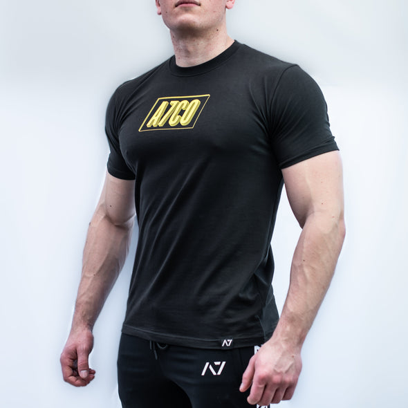 A7 Mark Bar Grip T-shirt, great as a squat shirt. Purchase Mark Bar Grip tshirt from A7 UK. Purchase Mark Bar Grip Shirt Europe from A7 UK. No more chalk and no more sliding. Best Bar Grip Tshirts, shipping to UK and Europe from A7 UK. Stronger bar grip tshirt has a unique Stronger than before barbell print! The best Powerlifting apparel for all your workouts. Bar Grip is a performance shirt with a patent-pending silicone grip that is designed to help with slippery benches and bars.