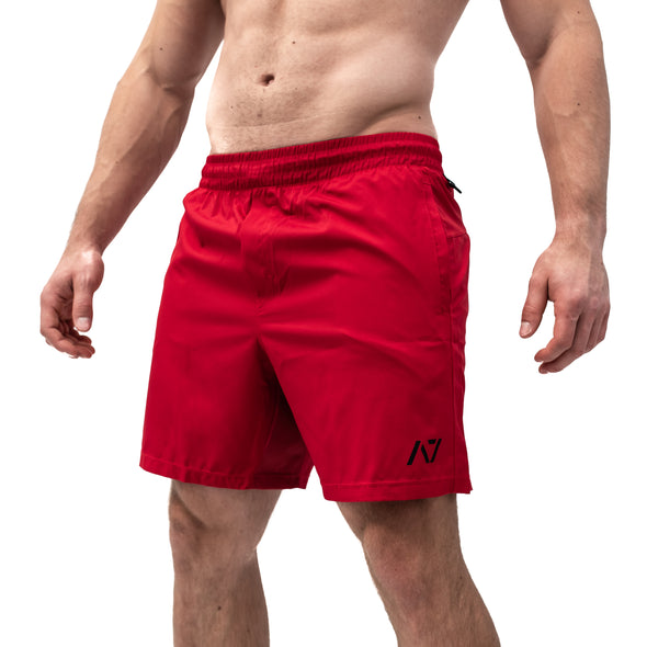Men's Centre-stretch Squat Shorts - Crimson