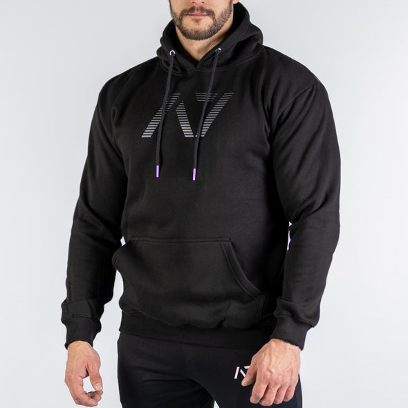 Shadow Bar Grip Hoodie features: Ultra soft cotton/polyester fleece blend, Drawstrings with A7 tips, Double-lined hood, Kangaroo pocket, Relaxed fit, Bar Grip Premium. Bar Grip is a performance shirt with a patent-pending silicone grip that is designed to help with slippery benches and bars. The best Powerlifting apparel and clothes for all your workouts. Best Bar Grip Tshirts, shipping to UK and Europe from A7 UK. Available in UK and Europe including France, Italy, Germany, Sweden and Poland