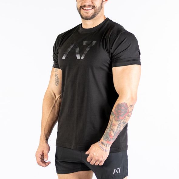 Shadow Bar Grip T-shirt, great as a squat shirt. Purchase Shadow Bar Grip tshirt UK from A7 UK. Purchase Shadow Bar Grip Shirt Europe from A7 UK. No more chalk and no more sliding. Best Bar Grip Tshirts, shipping to UK and Europe from A7 UK. The best Powerlifting apparel for all your workouts. Available in UK and Europe including France, Italy, Germany, Sweden and Poland