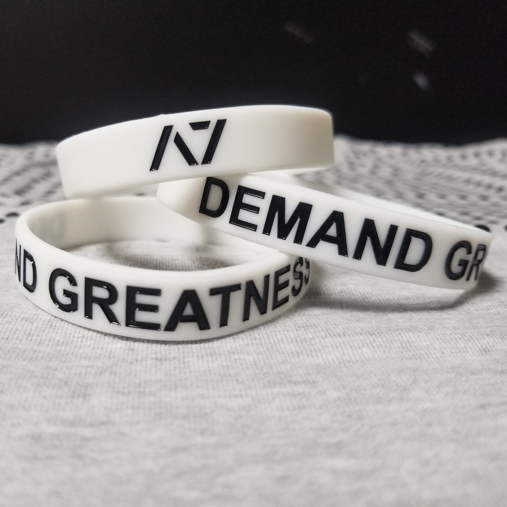 Glow-in-the-dark Demand Greatness Wristband