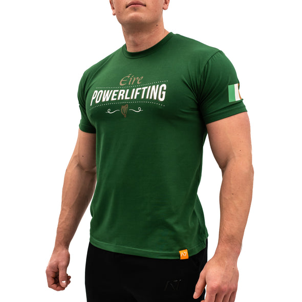 Eire Bar Grip T-shirt, great as a squat shirt. Purchase Eire Bar Grip tshirt from A7 Europe. Purchase Eire Bar Grip Shirt Europe from A7 Europe. No more chalk and no more sliding. Best Bar Grip Tshirts, shipping to Europe from A7 Europe. The best Powerlifting apparel for all your workouts. Available in UK and Europe including France, Italy, Germany, Sweden and Poland
