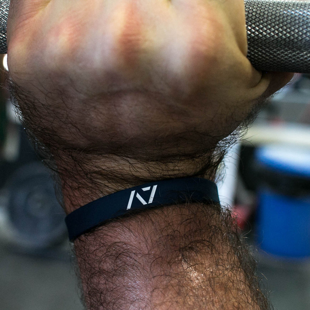 Navy Blue Three White Lights Wristband