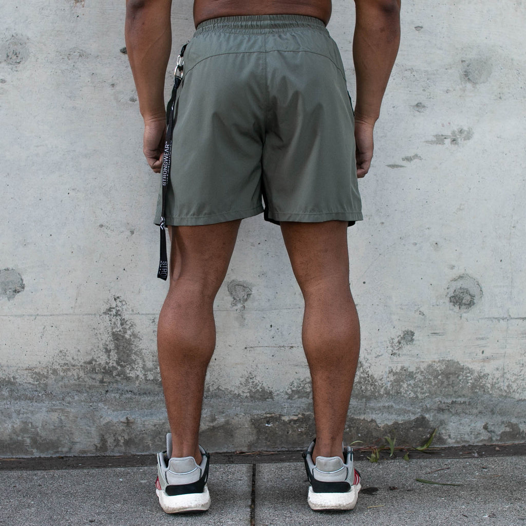 Men's Centre-stretch Squat Shorts - Stone