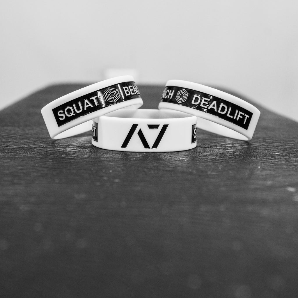 Glow-in-the-dark Squat Bench Deadlift Wristband