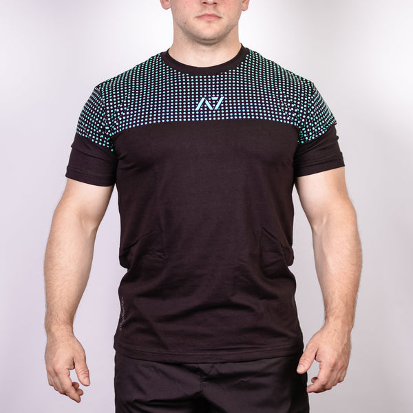 Clean Teal Bar Grip Men's Shirt