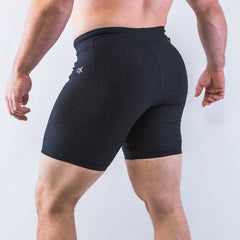 A7 OX compression shorts are perfect for training at a hot gym and even going for a jog outside. The shorts are made out of soft yet moisture-wicking fabric that allows for ultimate performance. A cell phone pocket and a key clip are added to make sure you have your valuables with you at all times. Shipping to UK and Europe.
