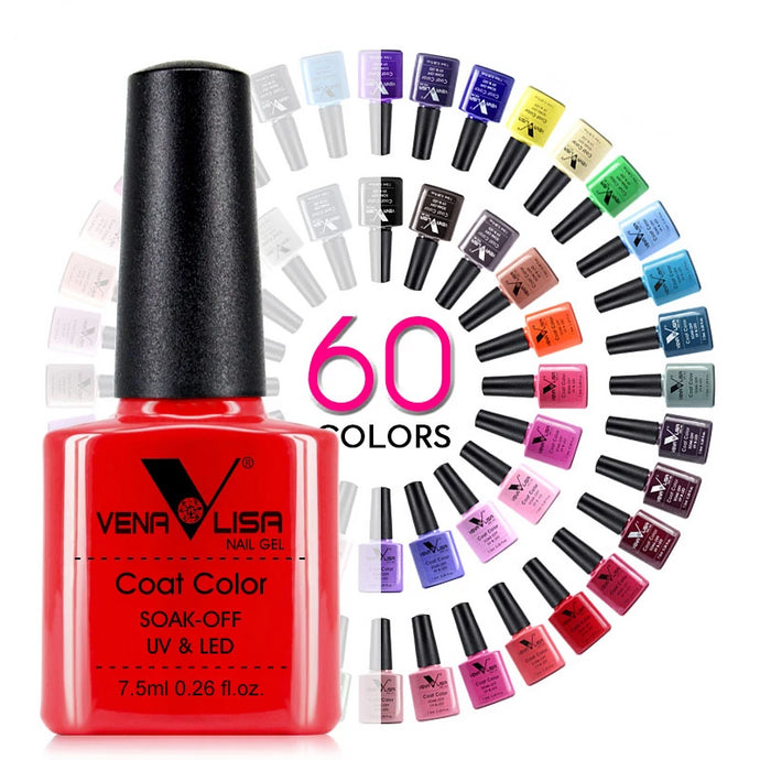 Proffesional Quality UV/LED Nail Gel - 7.5ML In 60 Fabulous Colors. At this price you could ge one in every colour!