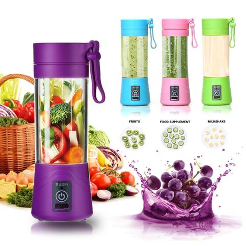 Portable rechargable usb electricjuicer blender