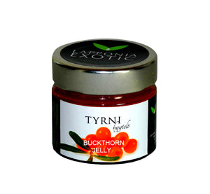 Gourmet wild berry buckthorn jelly, 100 g, all natural, handmade from pure Lapland berries in Finland.