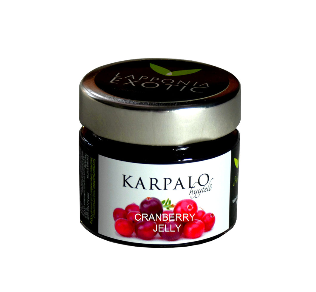 Gourmet wild berry cranberry jelly, 100 g, all natural, handmade from pure Lapland berries in Finland.