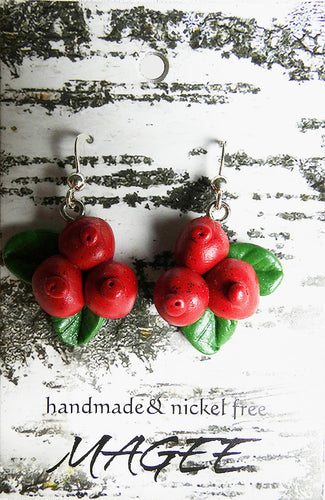 lingonberry_unique_handmade_nature_jewellery_hook_earrings_playful_cheerful_humorous_ethical