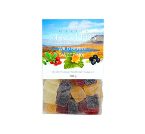 Natural three berry marmalade mix bag, 130 g, artisan handmade from organic Lapland wild berries in Finland.