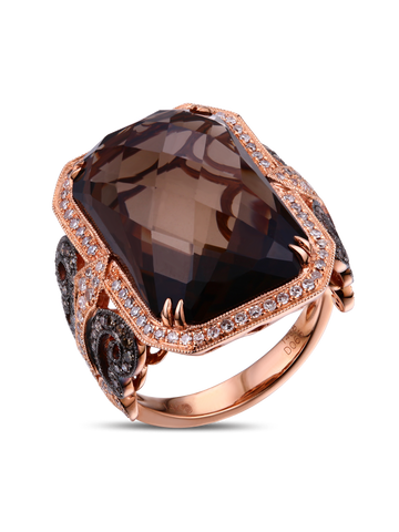 """SMOKEY QUARTZ RING BY DABAKAROV"