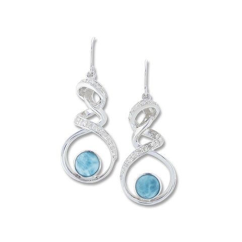 Dante Larimar Earrings - Call for Pricing
