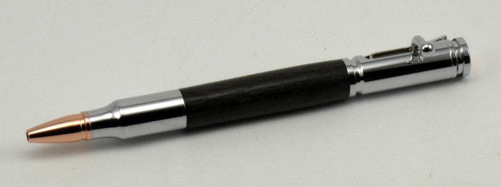 Ancient Bog Oak on Bolt Action Pen - Timber Creek Turnings