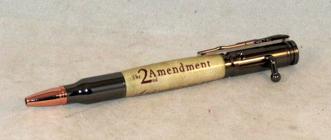 2nd Amendment Bolt Action Pen - Timber Creek Turnings