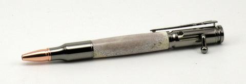 Bolt Action Pen with Deer Antler