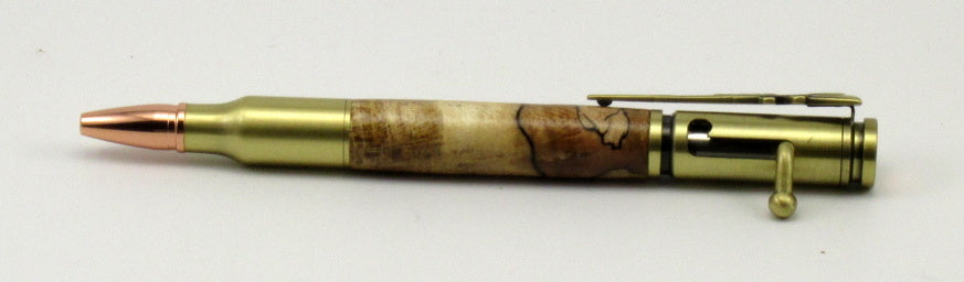 Spalted Maple on Bolt Action Pen