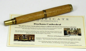Oak from Durham Cathedral on Rollerball Pen - Timber Creek Turnings