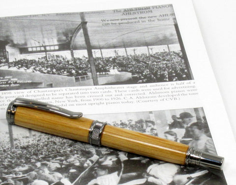 Jr. Harold Rollerball Pen with Wood from Chautauqua Institution