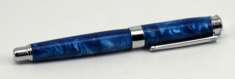 Blue Swirl Acrylic on Fountain Pen