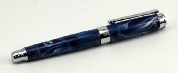 Red, White & Blue Swirl Acrylic on Fountain Pen