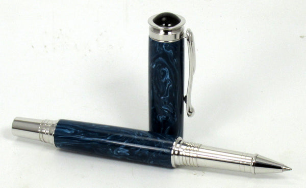 Blue Cerulean on Rollerball Pen - Timber Creek Turnings