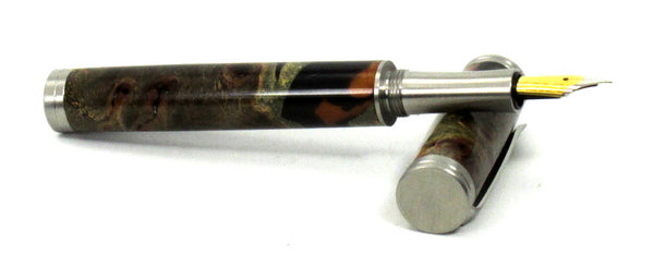 Elm Burl & Resin Fountain Pen - Timber Creek Turnings