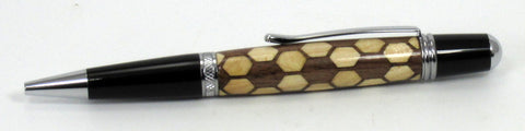Hexagon Inlay on Sierra Pen - Timber Creek Turnings
