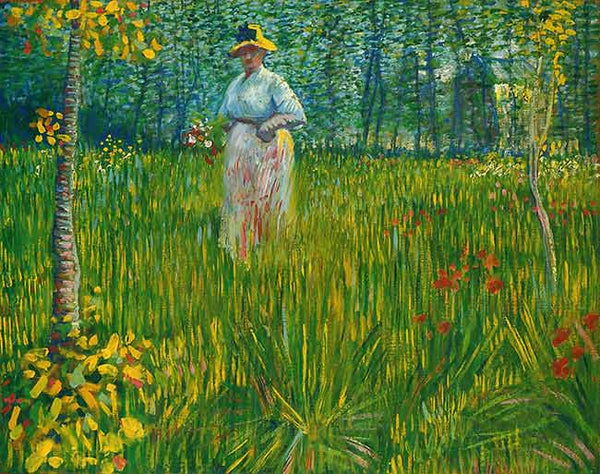 Vincent Van Gogh - A Woman Walking in a Garden