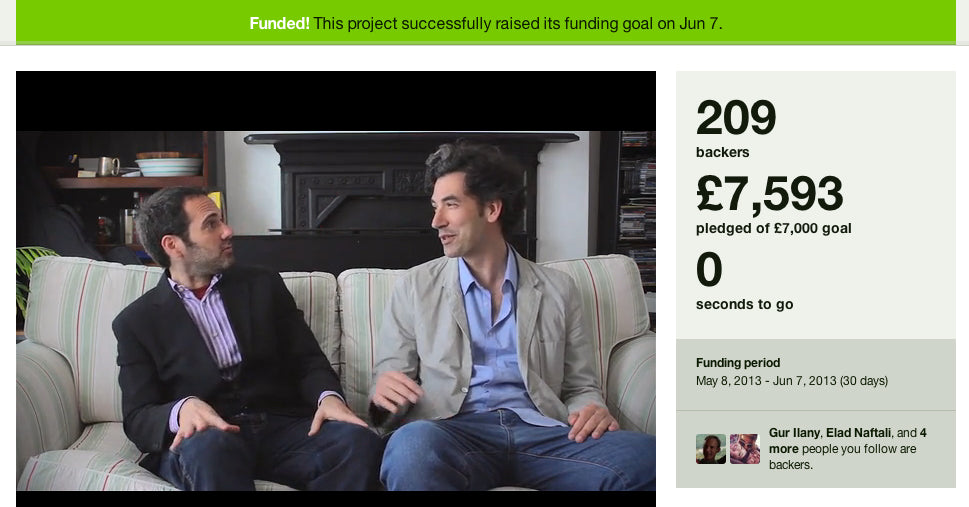 Funded! ChattyFeet project on Kickstarter