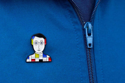 Enamel pins with faces