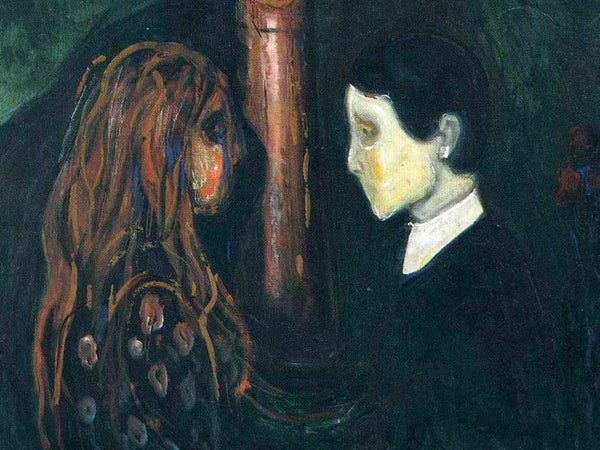 Details from eye-in-eye by Edvard Munch