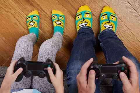 Funky socks for dads and kids