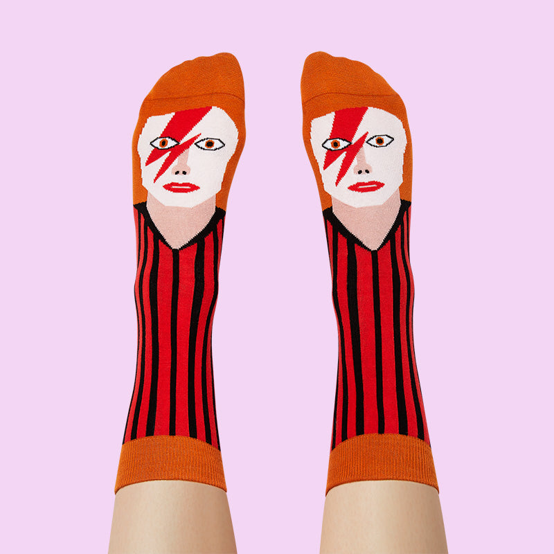 Funny socks inspired by Musicians- David Toewie