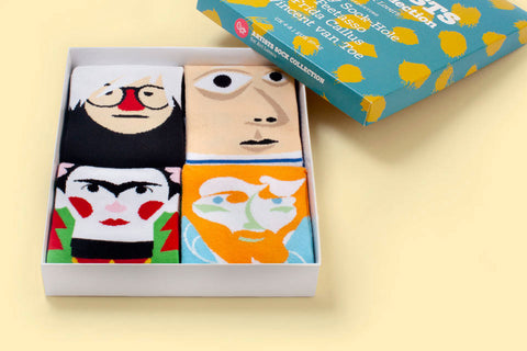 Funky socks sets with faces