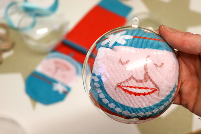 Funky Socks with DIY Christmas Baubles