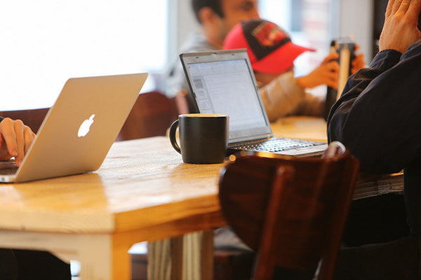 Coffee Shop and Laptops
