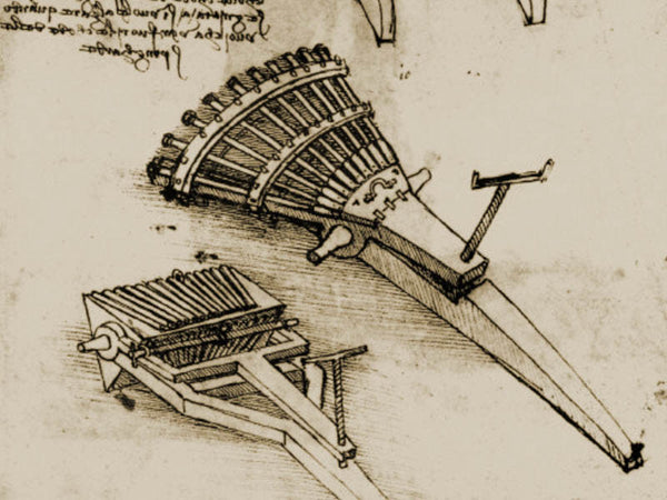 Leonardo Da Vinci's discoveries - 33-barrelled cannon