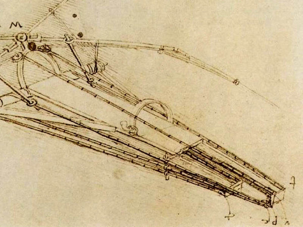 Leonardo Da Vinci Inventions - Flying Machine Sketch