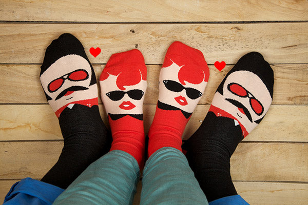 Valentine's Day Gift Ideas for Couples- Danny & Sandy by ChattyFeet