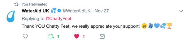 WaterAid Twitter Reply