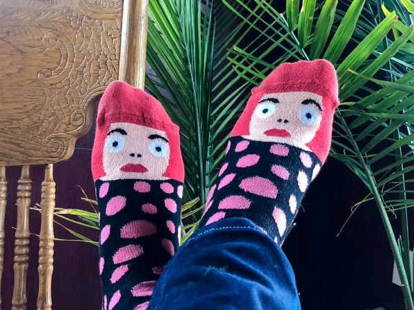 Humorous fashion accessories by ChattyFeet socks