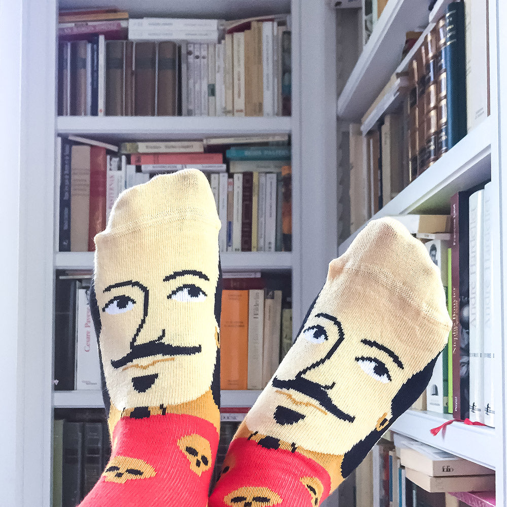 Theatre inspired socks - William Shakes-Feet