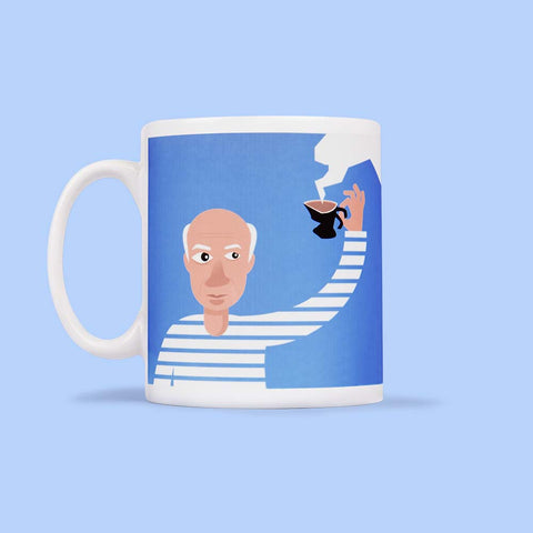 Art Mug - Illustrated artist - Teacasso by ChattyFeet