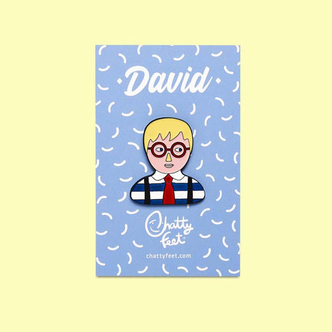Art Inspired Enamel Pins- David Design